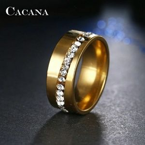 Jewelry - Titanium Stainless Steel Rings For Women Slash A L